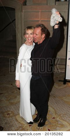 NEW YORK - MAY 13 : Trudie Styler and Sting attend the Almay Concert to celebrate the Rainforest Fund's 21st birthday at the Plaza Hotel on May 13, 2010 in New York City.