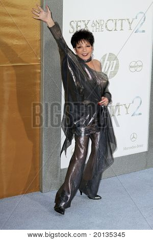 """NEW YORK - MAY 24: Actress/singer Liza Minnelli attends the """"Sex and the City 2"""" movie premiere at Radio City Music Hall on May 24, 2010 in New York City."""