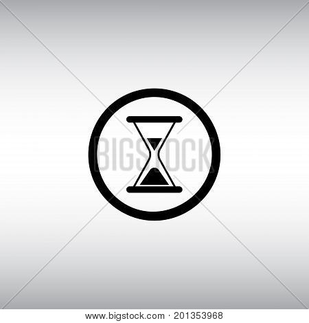 Hourglass flat vector icon. Hourglass isolated vector sign. Loading round vector button.