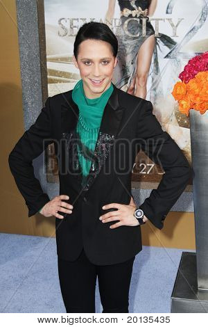 """NEW YORK - MAY 24: Ice skater Johnny Weir attends the premiere of """"Sex and the City 2"""" at Radio City Music Hall on May 24, 2010 in New York City."""