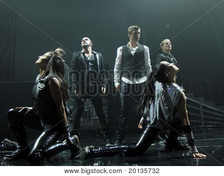 NEW YORK - JUNE 10:  Backstreet Boys perform at the Hammerstein Ballroom on June 10, 2010 in New York City.