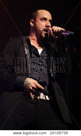 NEW YORK - JUNE 10: AJ McClean of the Backstreet Boys performs at the Hammerstein Ballroom on June 10, 2010 in New York City.