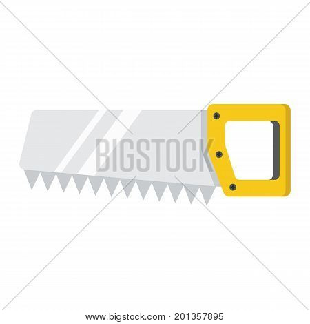 Hand saw flat icon, build and repair, handsaw sign vector graphics, a colorful solid pattern on a white background, eps 10.