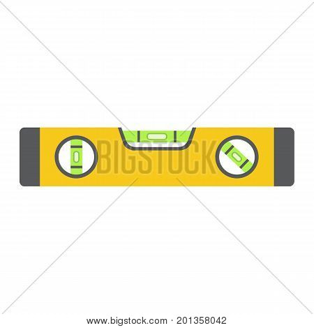 Bubble level tool flat icon, build and repair, level ruler sign vector graphics, a colorful solid pattern on a white background, eps 10.