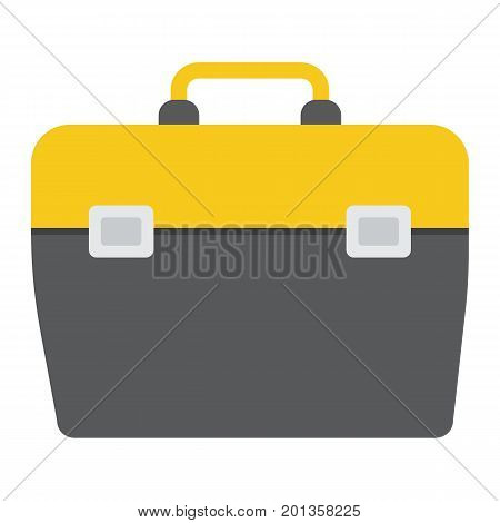 Toolbox flat icon, build and repair, toolkit sign vector graphics, a colorful solid pattern on a white background, eps 10.