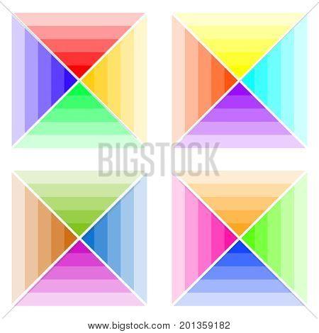 Color schemes, a palette of colors. Flat design, vector illustration, vector.