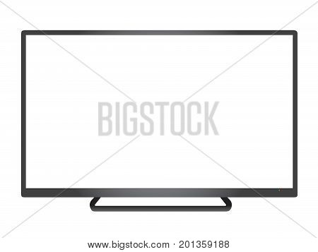 Isolated Vector Dark Grey Borderless Television