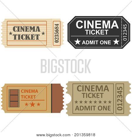A movie ticket, a retro cinema ticket. A cinema. Flat design, vector illustration, vector.