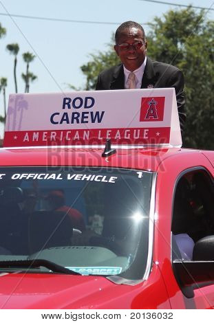 ANAHEIM - JULY 13: Former baseball player Rod Carew attends the 2010 All Star Red Carpet Show on July 13, 2010 in Anaheim, CA.