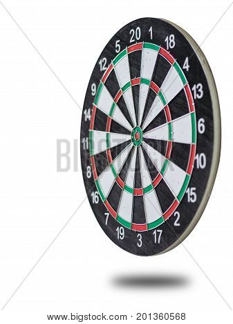 Isolated dartboard on white background for target concept.
