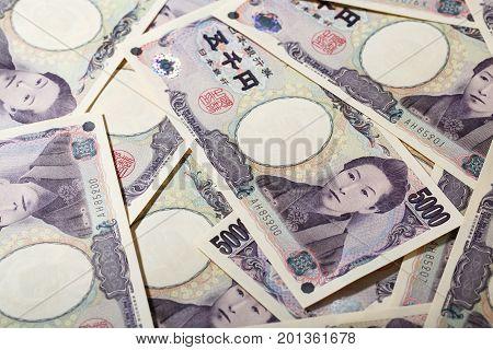 Background image of Japanese bank note 5000 yen
