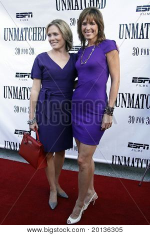 NEW YORK - AUGUST 26: ESPN analysts Chris McKendry and Hannah Storm attend ESPN Films'