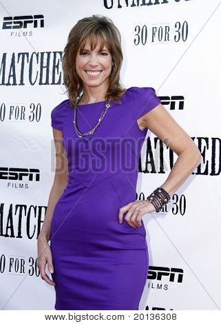 """NEW YORK - AUGUST 26: ESPN analyst and executive producer Hannah Storm attends ESPN Films' """"Unmatched"""" premiere at the TriBeCa Cinemas on August 26, 2010 in New York City."""
