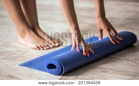 Afro American Girl Doing Yoga