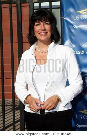 FLUSHING, NY - AUGUST 30: Christiane Amanpour arrives at the 2010 US Open Tennis Opening Ceremony at the Billie Jean King National Tennis Center on August 30, 2010 in Flushing, NY.