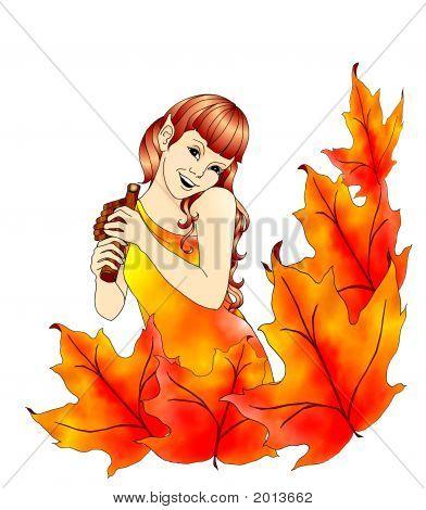 Colorful Autumn Elf