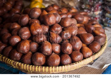 an exotic food from asia salak from indonesia java yogyakarta