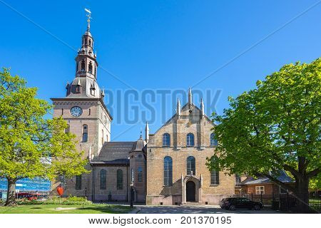 Oslo Cathedral or Oslo Domkirke in Oslo city Norway.