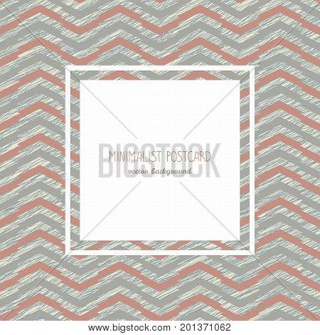 Minimalist Postcard. Classic Design. Copy Space.