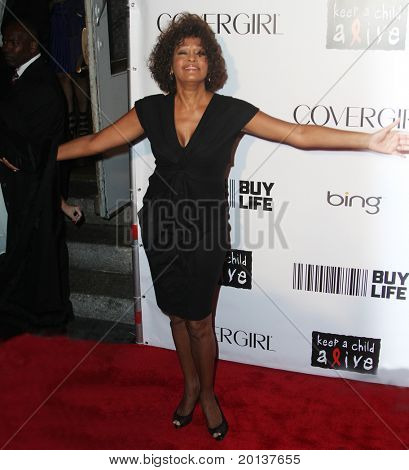 NEW YORK - SEPTEMBER 30: Singer Whitney Houston attends the Keep A Child Alive's Black Ball hosted by Alicia Keys at the Hammerstein Ballroom on September 30, 2010 in New York City.