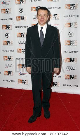 """NEW YORK - OCTOBER 10: Executive Producer Peter Morgan attends the premiere of """"Hereafter"""" at Alice Tully Hall at the New York Film Festival on October 10, 2010 in New York City."""