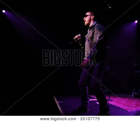 NEW YORK - OCTOBER 12: Singer Mike Posner performs in concert at Irving Plaza on October 12, 2010 in New York City.