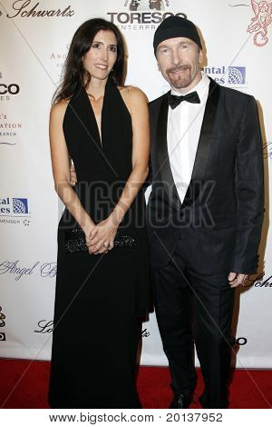 NEW YORK - OCTOBER 21: Morleigh Steinberg and The Edge attend Angel Ball 2010,hosted by Gabrielle's Angel Foundation for Cancer Research at Cipriani's on October 21, 2010 in New York City.