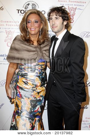NEW YORK - OCTOBER 21: Denise Rich and Josh Groban attend Angel Ball 2010,hosted by Gabrielle's Angel Foundation for Cancer Research at Cipriani's on October 21, 2010 in New York City.