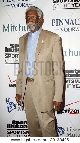 NEW YORK - NOVEMBER 30: Former basketball player Bill Russell attends the Sports Illustrated Sportsman of the Year Awards at the IAC Building on November 30, 2010 in New York City.