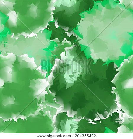 Green Seamless Watercolor Texture Background. Resplendent Abstract Green Seamless Watercolor Texture