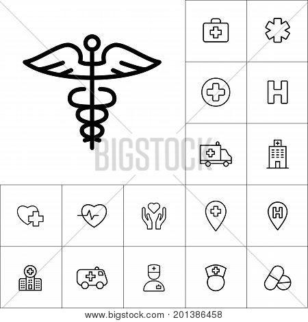Caduceus Icon On White Background