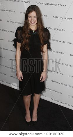 NEW YORK - JAN 11: Hailee Steinfeld attends the 2011 National Board of Review of Motion Pictures Gala at Cipriani's on January 11, 2011 in New York City.