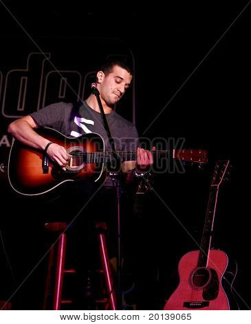 """FARMINGDALE - JANUARY 14: """"Dancing With the Stars"""" dancer, Mark Ballas performs a solo concert at the Crazy Donkey Bar and Grill on January 14, 2011 in Farmingdale, New York."""