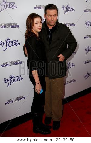 "NEW YORK, NY - FEBRUARY 02: Actor Stephen Baldwin and daughter Hailey attend the ""Justin Bieber: Never Say Never"" New York premiere at the Regal E-Walk 13 Theater on February 2, 2011 in New York City."