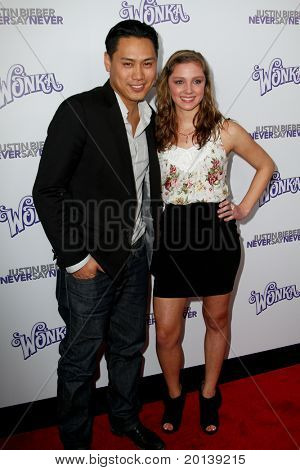 """NEW YORK, NY - FEBRUARY 02: Director Jon Shu and Lynsey Mickolas attend """"Justin Bieber: Never Say Never"""" New York movie premiere at the Regal E-Walk 13 Theater on February 2, 2011 in New York City."""