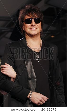 NEW YORK - FEBRUARY 17: Richie Sambora presents White Trash Beautiful collections for Mercedes-Benz Fashion Week at Metropolitan Pavillion on February 17, 2011 in New York City.