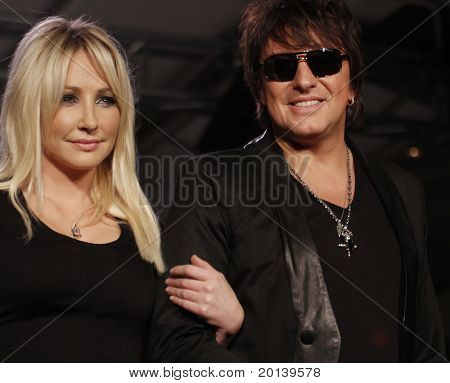 NEW YORK - FEBRUARY 17: Nikki Lund and Richie Sambora present White Trash Beautiful collections for Mercedes-Benz Fashion Week at Metropolitan Pavillion on February 17, 2011 in New York City.