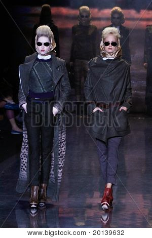 NEW YORK - FEBRUARY 17: Model walk the runway during the Mercedes-Benz Fashion Week presentation of  L.A.M.B. collections by Gwen Stefani at Lincoln Center on February 17, 2011 in New York City.
