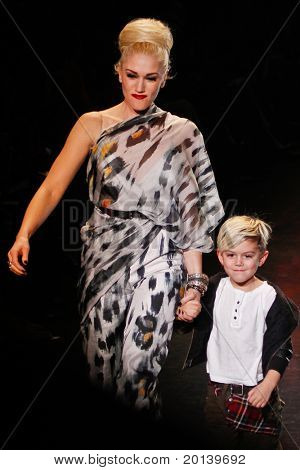 NEW  YORK - FEBRUARY 17: Mercedes-Benz Fashion Week presents L.A.M.B. collections by Gwen Stefani at Lincoln Center on February 17, 2011 in New York City.