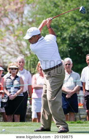 ORLANDO, FL - MARCH 23: Rocco Mediate tees off during a practice round at the Arnold Palmer Invitational Golf Tournament on March 23, 2011 at the Bay Hill Club and Lodge in Orlando, Florida.