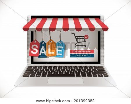Laptop - Front - Online Shop