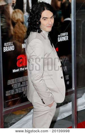 NEW YORK, NY - APRIL 5: Russell Brand attends the New York premiere of 'Arthur' at the Ziegfeld Theatre on April 5, 2011 in New York City.