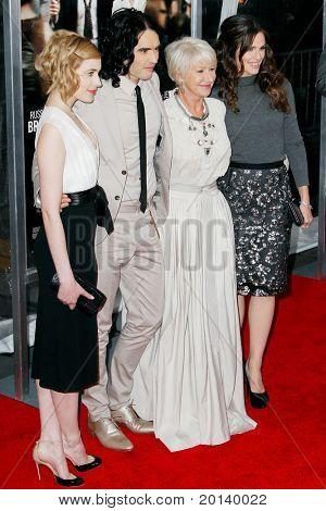 NEW YORK - APRIL 5: Greta Gerwig, Russell Brand, Helen Mirren, and Jennifer Garner attend the New York premiere of 'Arthur' at the Ziegfeld Theatre on April 5, 2011 in New York City.