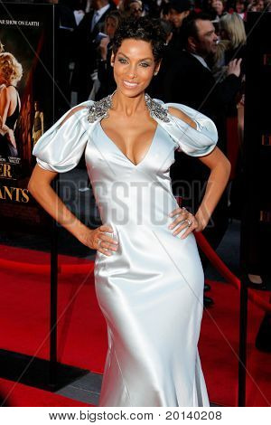 """NEW YORK - APRIL 17:  Model Nicole Murphy attends the premiere of """"Water for Elephants"""" at the Ziegfeld Theatre on April 17, 2011 in New York City."""