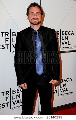 "NEW YORK - APRIL 20: Rider Strong attends the opening night premiere of ""The Union"" at the 2011 TriBeCa Film Festival at North Cove at World Financial Center Plaza on April 20, 2011 in New York City."