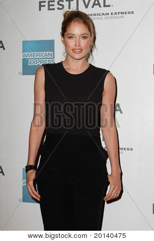 """NEW YORK - APRIL 21: Model Doutzen Kroes attends the 2011 TriBeCa Film Festival premiere of """"The Bang Bang Club"""" at the BMCC TriBeCa PAC on April 21, 2011 in New York City."""