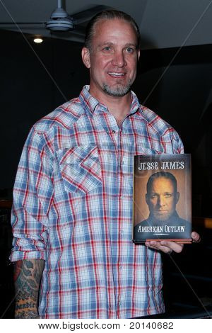 "HUNTINGTON - MAY 5: Actor Jesse James appears for the signing of his book, ""American Outlaw"" at The Book Revue on May 5, 2011 in Huntington, NY."