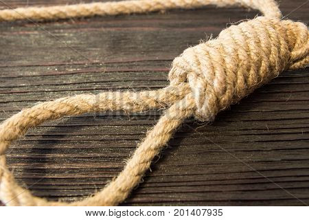 The deadly loop of rope. Last seconds of life. Unrequited love.