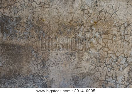 Close Up Of Cracked Vintage Concrete Floor Texture Background