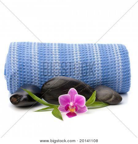 Spa concept. Towel roll.